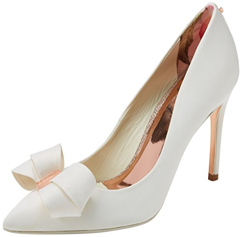 Ted Baker Damen Skalett Pumps, Weiß (Ivory), 37 EU (Top Stiletto Heel Satin)
