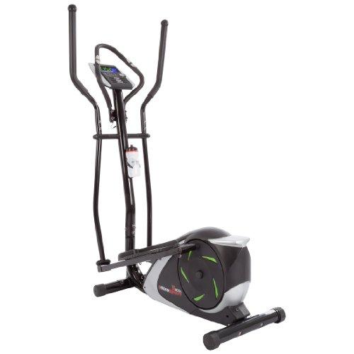 Ultrasport XT-Trainer 800A, Crosstrainer für Zuhause, Ellipsentrainer mit Handpuls-Sensoren und 12 verschiedenen Programmen, Heimtrainer, Cardio-Gerät, inkl. Trinkflasche, 104 x 49 x 133 cm