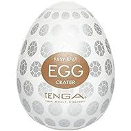 Tenga Egg Crater Masturbator, White, One Size