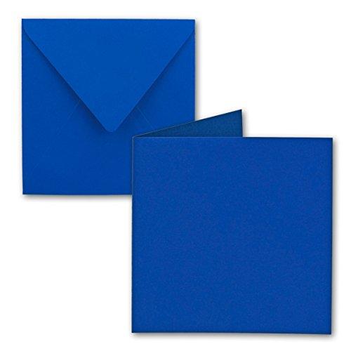 Quadratisches Falt-Karten-Set | 15 x 15 cm - mit Brief-Umschlägen | Royalblau | 25 Stück | für Grußkarten, Einladungen & mehr | Qualitätsmarke: FarbenFroh® von Gustav NEUSER®