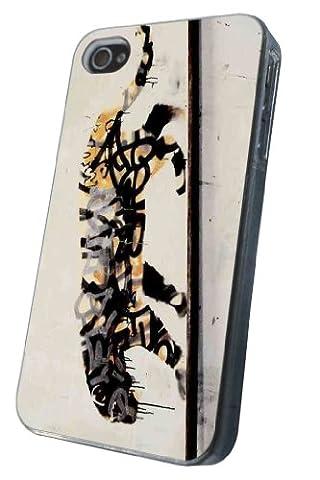 Coque iphone 4 4S tigre design grafitti art banksy coque