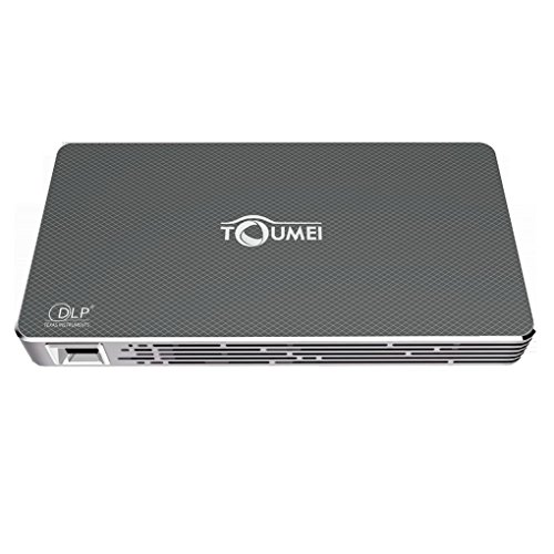TOUMEI C800S Mini DLP-Projektor 1080P Full HD Portable Heimkino-Projektor WiFi Wireless Smart Fernbedienung Projektor über Telefon iPad Laptop-Computer Unterstützung BT4.0 HDMI-Eingang mit Stativ (Flugzeug Laptop Netzteil)