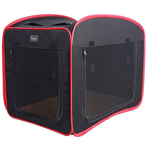 Autotransportboxen Hundetransportbox Auto Hund Zelt, herausnehmbar und waschbar Kennel Katzentoilette, vier Jahreszeiten Universal Car Kit (Color : Black, Size : 80 * 52 * 55cm)