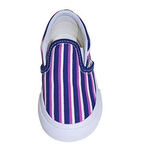 VANS Chaussures Enfants - T CLASSIC SLIP ON - multi stripes Mehrfarbig - Mehrfarbig (Blau / Radiant Orchid)