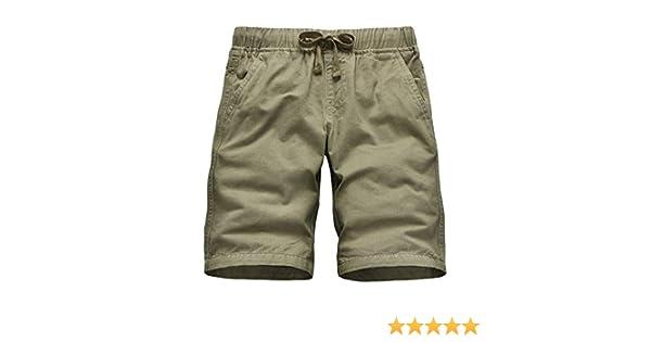 Bermuda Bambino con Vita Elastica, CAMLAKEE Pantaloncini Ragazzo Pantaloni Corti Cotone Estivi