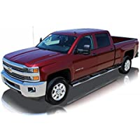 Raptor Series 2000-2016 Chevrolet Silverado GMC Sierra 1500 2500 Crew Cab (6.5ft Bed) 2000-2016 Chevrolet Silverado GMC Sierra 3500 Crew Cab (8ft Bed, Dually) SS W2W Oval Steps 0401-0027M by Raptor Series