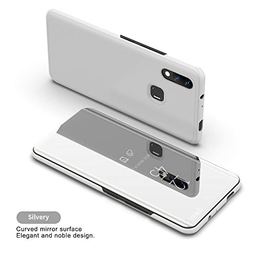 Coque Honor 10 Lite Smart Mirror Cover Étui en Cuir Flip Sleep  All-Inclusive Anti-Fall Etui pour téléphone Mobile Étui Smart en Cuir  Housse de
