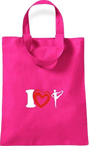 Yogo Gymnastik Baumwolltasche Love Joga Rot ShirtInStyle pink Farbe I Sport kleine wqIxRH7