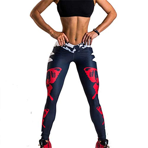 Butterfly Capris (Damen Laufhose Leggins, Frauen Red Butterfly Prints Leggings Sexy Capri Yoga Hosen Lange Hosen Nicht Durchsichtig Laufen Workout Fitness Gym Strumpfhosen Yoga Sporthose Stretch-Hose Lauf-Tights)