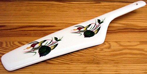 Fuchsia Kuchen Server Fine Bone China Kuchen Slice Kuchen, Pie Server Hand-dekoriert in Großbritannien Fuchsia Bone China