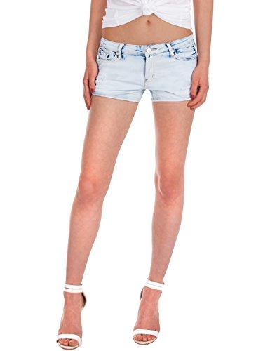 Fraternel Damen Jeans Hotpants Shorts hellblau 40/L (Shorts Pocket Low Five Rise)