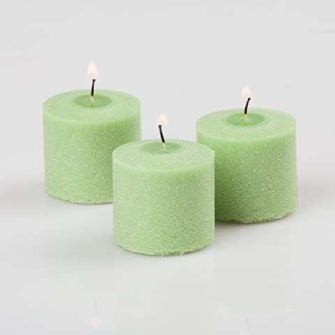 Quick Candles Bougeoir Sage Green Vanilla Lime Scent