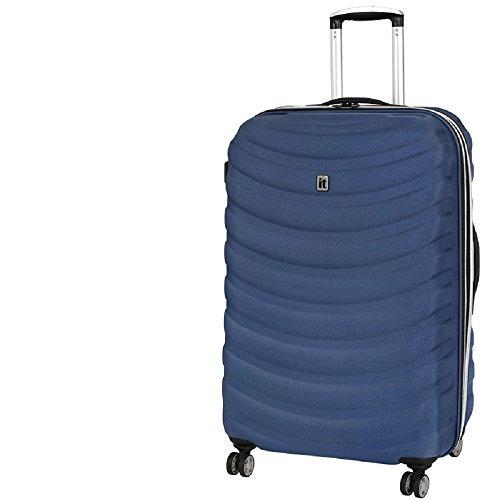 NEW It Luggage Wave Glider Frameless 8 Wheel Large Suitcase H76.5cm - Navy