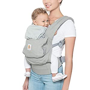 Ergobaby Front and Back Original Baby Carrier, Pearl Grey   8
