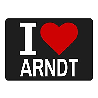 Classic Mousepad I Love Arndt Black