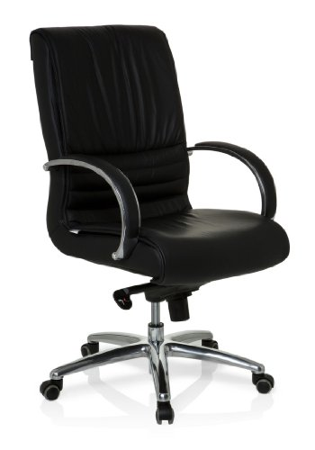 hjh OFFICE Bürostuhl/Chefsessel XXL F 200 Echtleder
