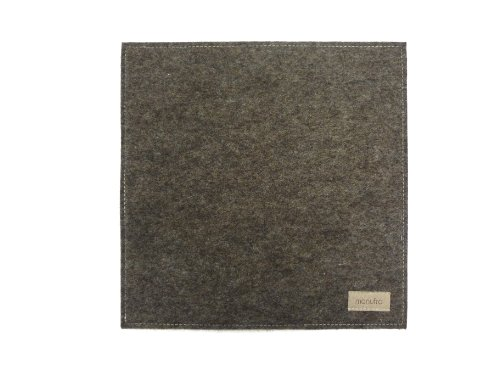 Preisvergleich Produktbild manufra Untersetzer / Mauspad 100 % Schurwollfilz (60301050) Filz natur-meliert