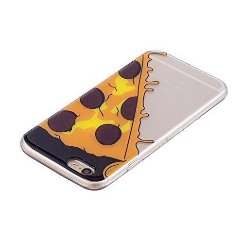 iPhone 6 Plus/6S Plus Coque, Voguecase TPU avec Absorption de Choc, Etui Silicone Souple Transparent, Légère / Ajustement Parfait Coque Shell Housse Cover pour Apple iPhone 6 Plus/6S Plus 5.5 (Donuts  Pizza 01