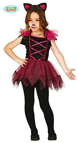 Pinkes Kätzchen Kostüm für Kinder Gr. 98-146, (Kitty Halloween Katze Für Kostüm)