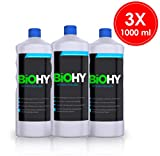 BIOHY Intensivreiniger 3er Pack (3x1Liter) Schmutz und Fettlöser Konzentrat, Grundreiniger, Industriereiniger, Intensiv & Nachhaltig für Außen und Innen, Profi Bio-Reiniger, Öko...