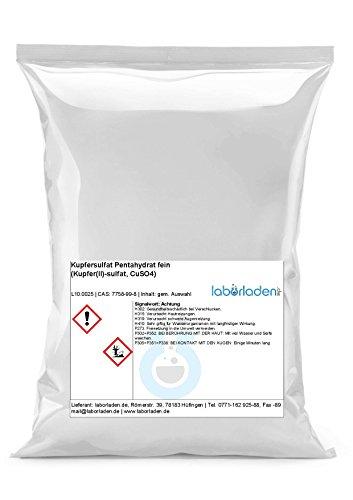 Preisvergleich Produktbild 1kg Kupfersulfat Pentahydrat (Kupfer(II)-sulfat, CuSO4, für Pool, Labor, Werkstatt, Kristallzucht) - 1000g
