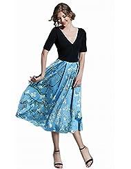 Robe Robe de Couture Féminine Et Collant Sexy dans la Jupe Longue