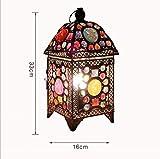 AME Tischlampe Europäischen Vintage Eisen Tischlampe, Farbe Plexiglas Perlen Dimmen Lampe, kreative Wohnzimmer Schlafzimmer Studie Kinderzimmer Cafe Restaurant Kreative Schreibtischlampe E14 * 1 (des