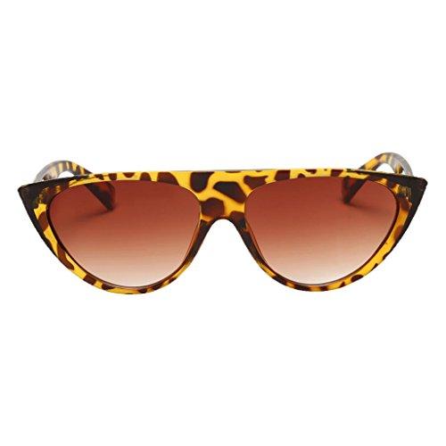 MagiDeal Damenmode Übergroße Vintage Sonnenbrille Große Brillen Designer - Leopard Farbverlauf Objektiv