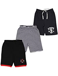 MIDAAS Boy's Cotton Shorts - Pack of 3
