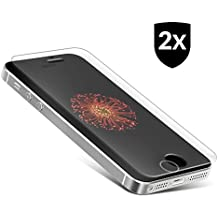 2x iPhone SE / 5S / 5C / 5 Protector de pantalla de vidrio templado ** Máxima protección anti-golpes ** Sin burbujas ** Ajuste perfecto ** Cristal blindado premium producido por UTECTION® Transparente