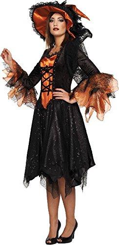 Damen Kostüm elegante Hexe Hexenkostüm zu Halloween Karneval Gr.44