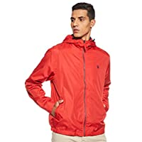 U.S. Polo Assn. Men's Jacket, Red (Jade Green Heather), Large