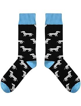CUP OF SOX - Dackel / Hund / Dog - Bunte Socken in der Pappbecher - Herren und Damen Baumwolle Freizeit Socken