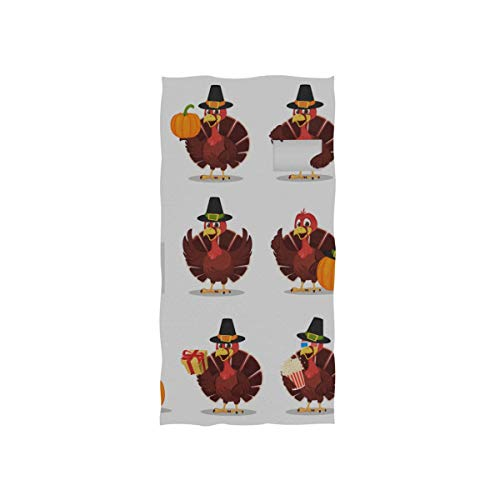 Gym Handtücher für Schweiß Thanksgiving Türkei Vogel tragen Pilger Hut weiches Handtuch Fingerspitze Handtuch für Baby Badezimmer Dusche Wrap Gym Sport 30 x 15 Zoll Handtuch Gym -