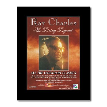 RAY CHARLES - The Living Legend Matted Mini Poster - 28.5x21cm (Living Legends Poster)