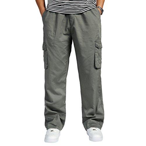 Lvguang Hombre Pantalones Cargo Senderismo Transpirable