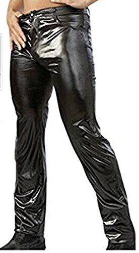 Herren Jeanshose im klassischen 5-Pocket-Style in Wetlook-Optik Die Po-Konturnaht für extra-knackigen Super-Sitz S - XL Schwarz Schwarz