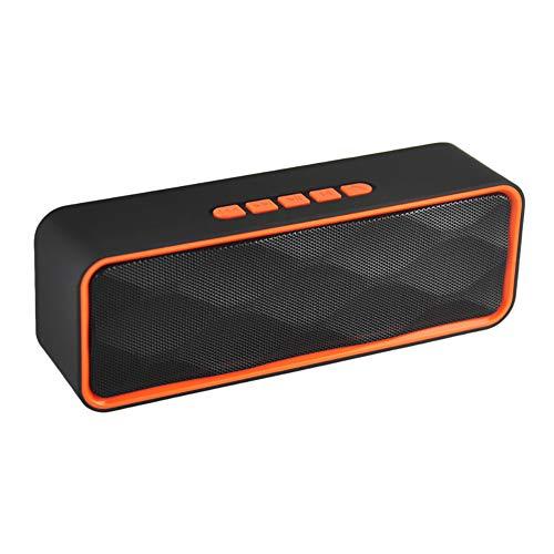 FCYY Neue drahtlose Mini Bluetooth Lautsprecher Outdoor Hands Free Speaker TF Card FM USB Stereo Music Sound Box,Orange Orange Music Box