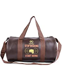 22569efd7e3867 Hyper Adam Unique Travel Duffel Leather Gym Bag with 2 Side Pocket (16 Inch,