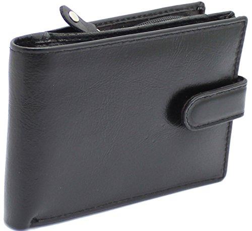 -Blockierung Herren Echtes Leder Zweifach Brieftasche Mit Einem Reißverschluss Münze Tasche & ID-Karte Fenster Kommt In Einem Schönen Geschenkbox #4011 (Elektronische Valentinstag-karten)