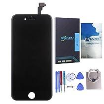 Htechy LCD Display Vitre Tactile de Rechange Complet Avec Outils de Réparation pour iPhone 6(4.7) inch (Noir),pour iPhone 6 Digitizer
