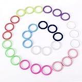 CLE DE TOUS - Pack de 30 Anillas de silicona para cadenas de chupete 10 colores