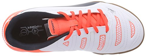 Puma evoPOWER 4.2 IT Jr Unisex-Kinder Hallenschuhe Weiß (white-total eclipse-lava blast 04)