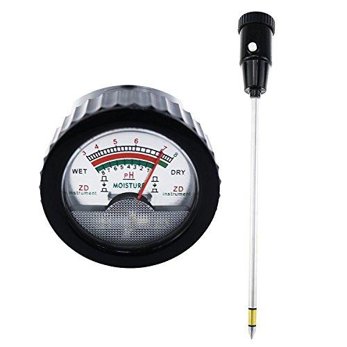 Boden-pH & Feuchtigkeit Meter Tester Checker 295mm 25,9m (lang Elektrode) Überprüfen Test Säure Alkalinität für Rasen Vineyard Orchard Field Produktion Garten Übertopf