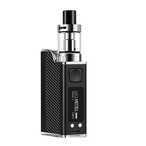 Ocamo 150W E Cig Smart Mod Box Cigarrillo Electrónico E Cigarrillo de Control de Temperatura con 0.91 '' Pantalla LED No nicotina Negro