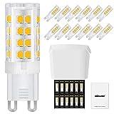 DiCUNO Bombillas LED G9 De 4W Equivalentes A Bomlillas Halógenas De 40W, Blanca cálida 3000k 400LM,G9 Cerámica Base, Pack De 12