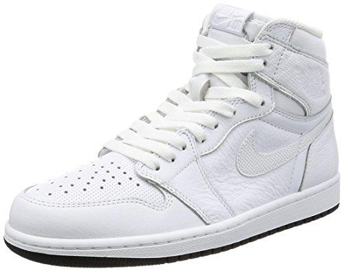 Air Jordan 1 Retro High OG Schuhe Sneaker Neu (EUR 42.5 US 9 UK 8, Weiß)