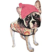 Cupcinu Tuchaufkleber heiße Karte kleines Mädchen Hundekatzenansammlung Druckstoff heiße Karte heiße Kartenstoff handgemachte DIY Kleidungsdekoration Size 24 * 17cm (Perro Sombrero)