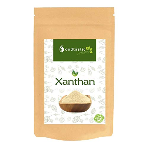 Foodtastic Xanthan 1000g / 1kg I sehr kalorienarm und günstig, Low Carb Backzutat I Verdickungsmittel I Premium Xanthan Gum E415 I Alternative zu Tapiokastärke und Johannisbrotkernmehl - Xanthum Gum