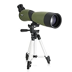 Lixada 20x70 Angled Spotting Scope Telescope with Tripod , BaK4 Waterproof Fogproof Portable Travel Scope Monocular Telescope With Carry Case for Bird Watching Camping Backpacking